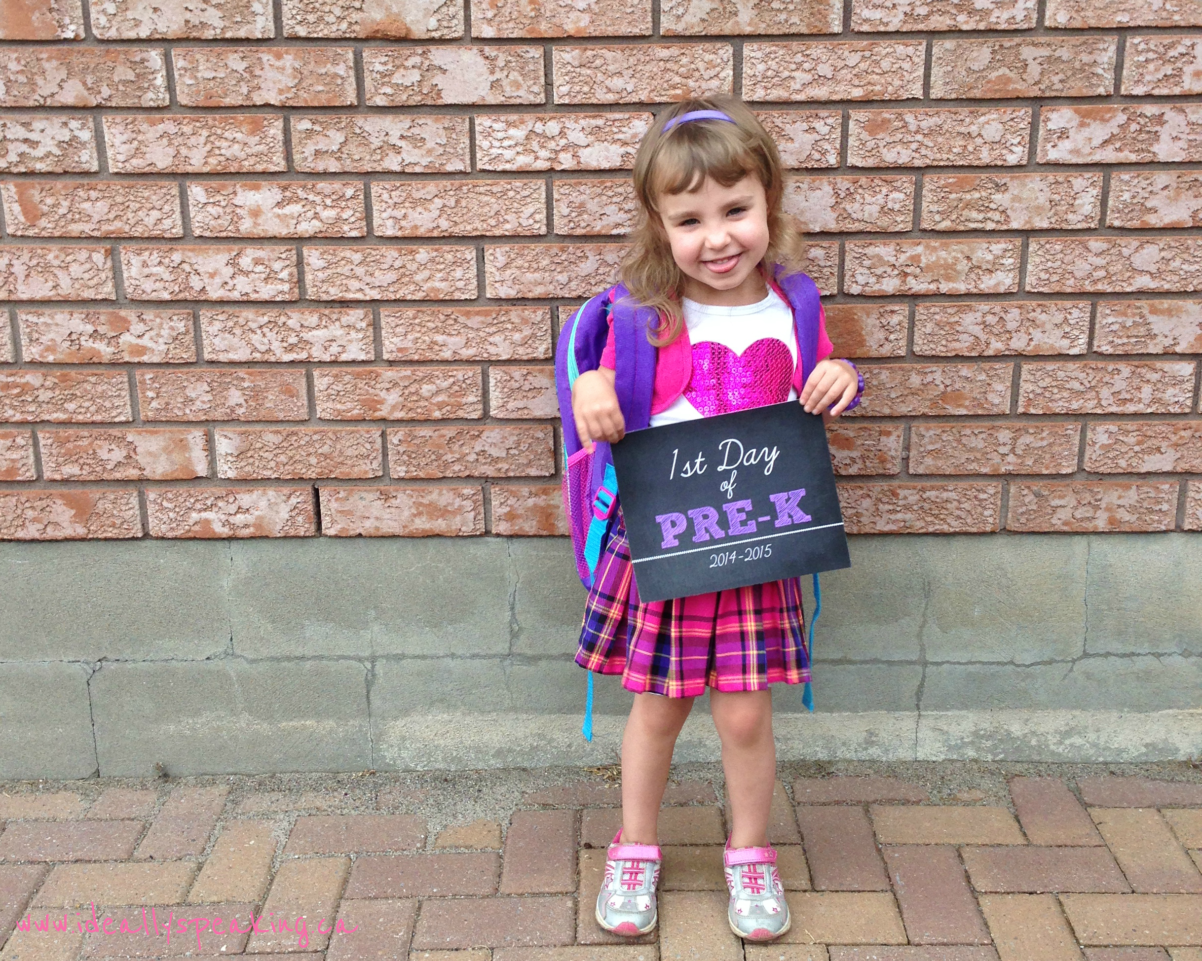 Wordlesswednesday Lilly S First Day Of Jr Kindergarten