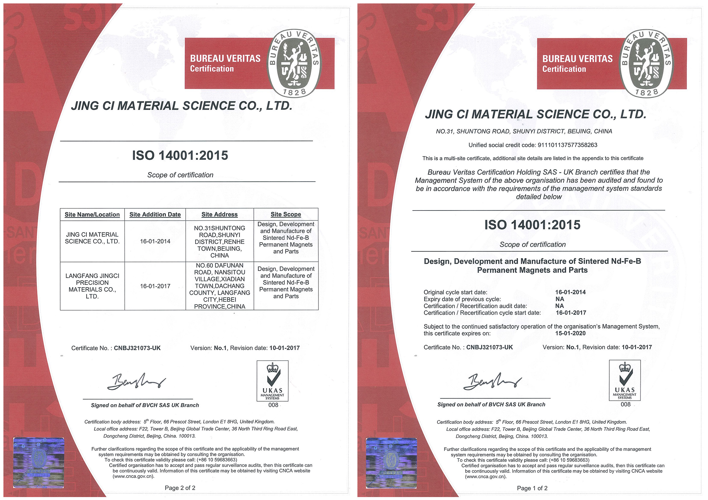 About BJMT ISO 14001 Qualified since 2004