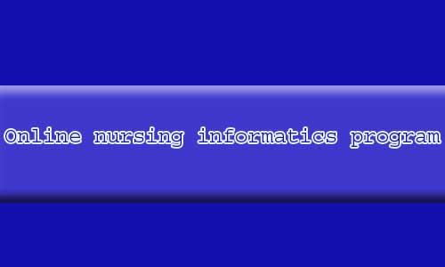 Online nursing informatics program