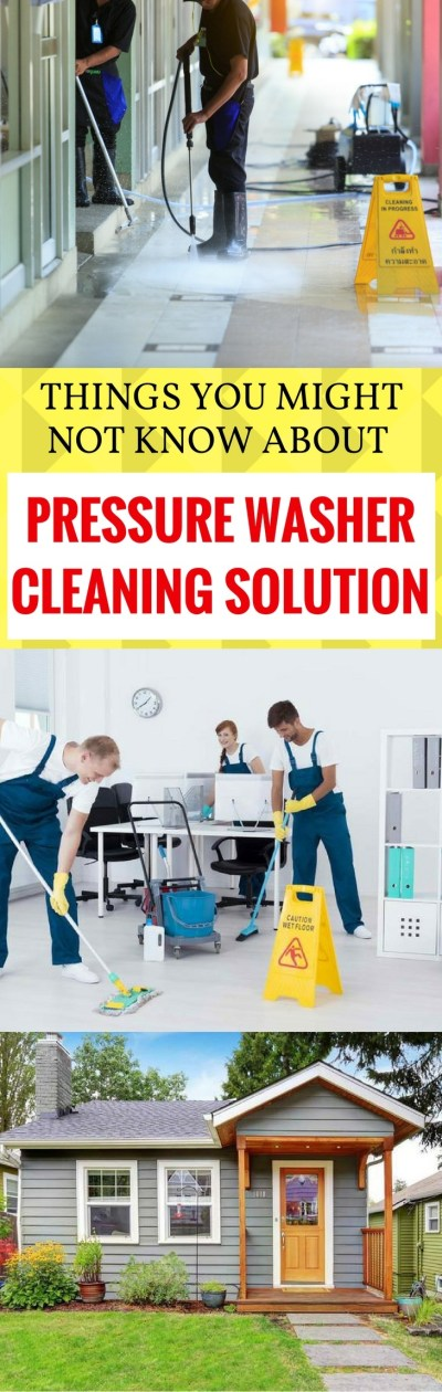 Pressure Washer Cleaning Solution pin t