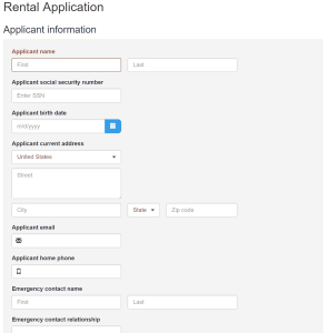 Buildium Rental Application