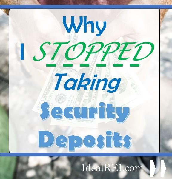 taking security deposits