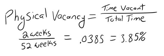 Physical Vacancy Formula