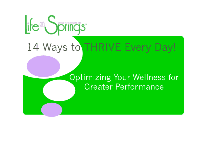 Free Webinar - 14 Ways to Thrive in a Day