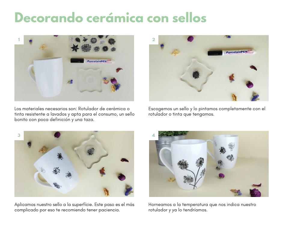ideas aprovechar sellos en cerámica