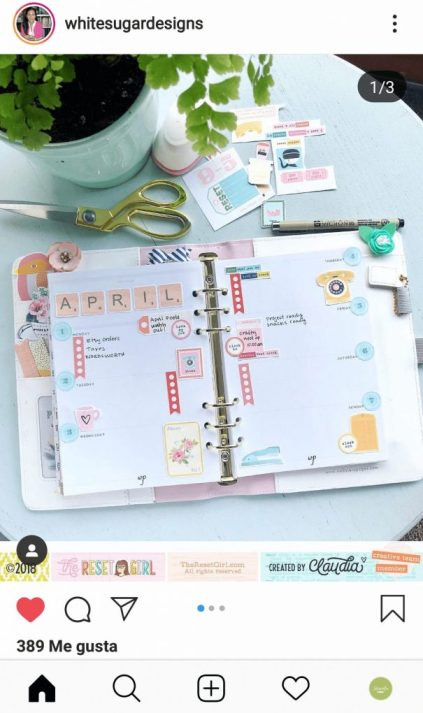 Planner scrapbook White sugar designs