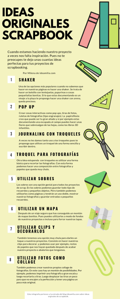 ideas originales para scrapbooking