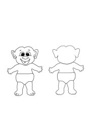troll doll coloring pages