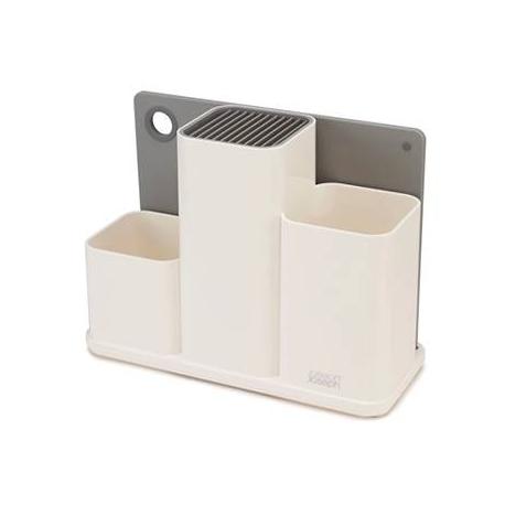 Counter store Organizer bianco per utensili da cucina con tagliere
