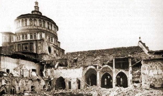 Santa Maria delle Grazie, bombardeo, segunda guerra, la ultima cena