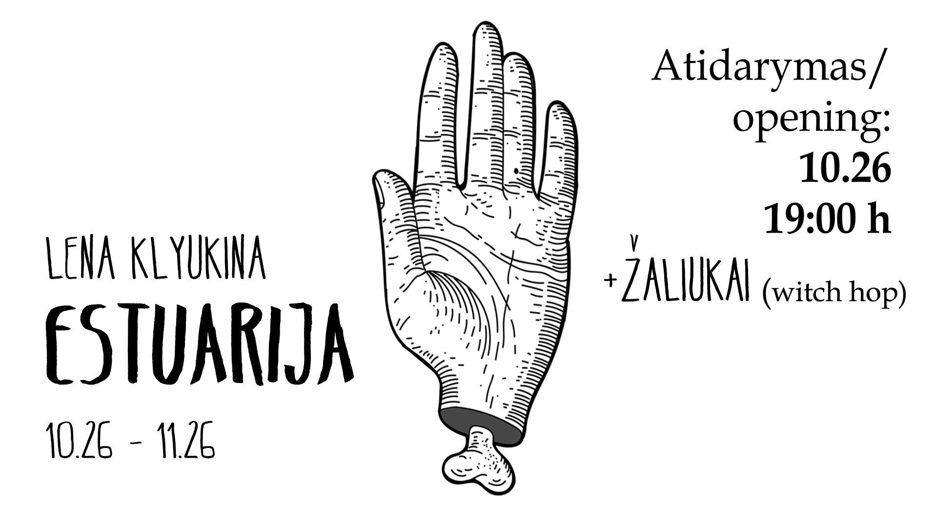 Lena Klyukina - Estuary exhibition opening