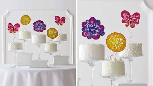 Diy Cake Topper With Template