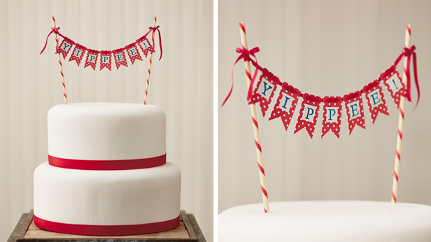 Birthday Cake And Smash With Diy Topper Buntings