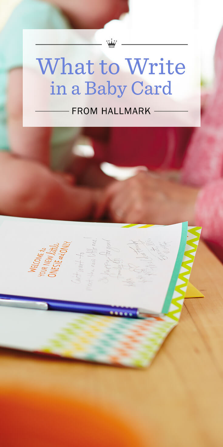What To Write In A Baby Shower Card From Grandparents : write, shower, grandparents, Wishes:, Write, Hallmark, Ideas, Inspiration