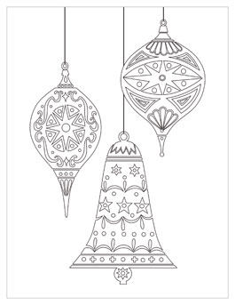 christmas ornament coloring page # 41