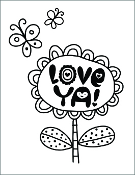 printable valentines day coloring pages # 16
