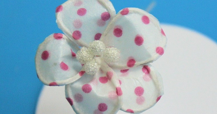 Flor realizada con washi tape