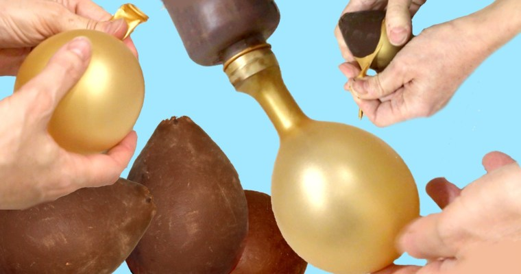 [:es]Cómo hacer un molde casero de huevo de Pascua con un globo.[:en]How to make a homemade Easter egg mold with a balloon[:]