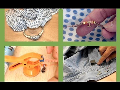 Pañuelo collar, pulsera de macramé. 4 ideas fáciles para regalar