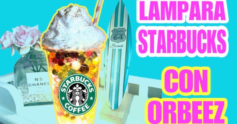 Batido de Starbucks anti estrés con Orbeez, Slime y luz.  Ideas para regalar DIY