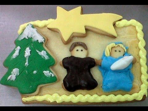 Galletas decoradas de Navidad: Nacimiento