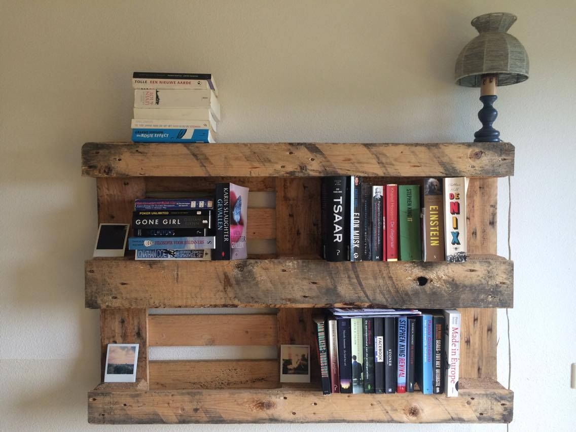 30 Diy Pallet Bookshelf Plans Instructions