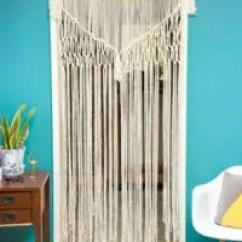 Vintage Kitchen Curtains Round Table Seats 8 12 Diy Macramé Patterns | Macrame Door Curtain