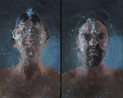 'dissolution', 2005 - video still -artist Bill Viola