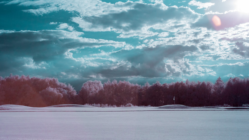 Photographed using a converted Infrared Camera near the Hampton in Arden Golf Club