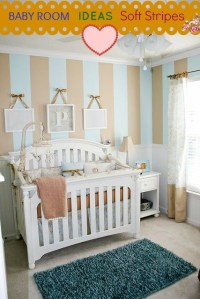 Beige Baby Room Idea With Soft Stripes | Baby Room Ideas