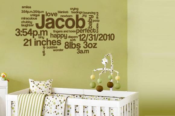 Baby Boy Nursery Wall Decal Ideas