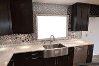 Espresso Dark Cabinet Metal Backsplash Tile | Backsplash ...