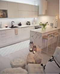 Cocinas pequeñas con barra Ideas Bonitas Para