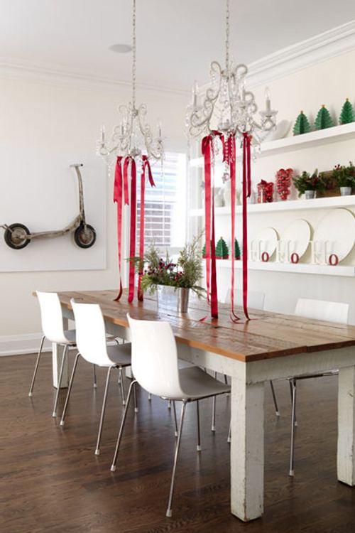 decoracin navidad ideas simples para el comedor