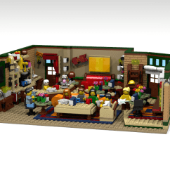 How To Make A Simple Lego Sofa Bed Canada Sears Ideas Product The Central Perk Coffee Of Friends