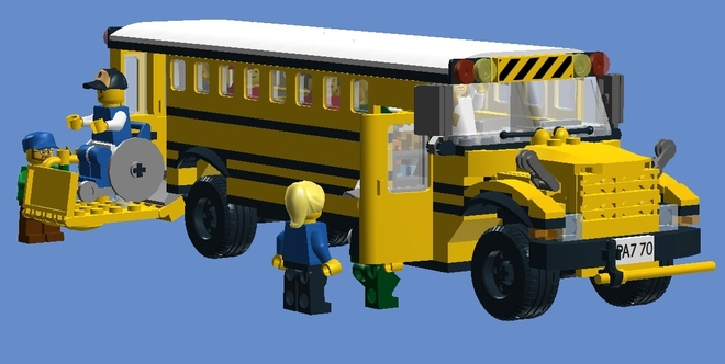 yellow wheelchair revolving chair price lego ideas product accessible school bus