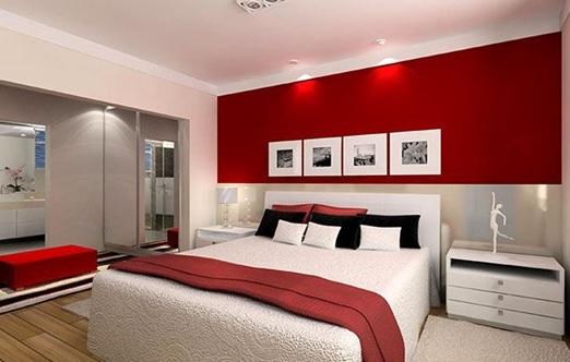 Estupendos Dormitorios Decorados con Color Rojo y Blanco