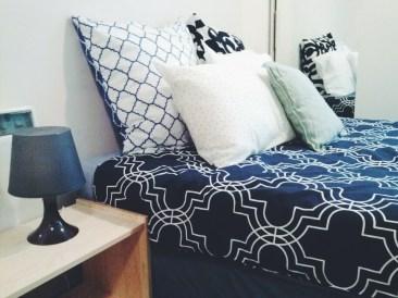 Bed wardrobe closeup view Unit 911 268 Flinders Street Home@Flinders Melbourne Studio by Ideas Dispenser