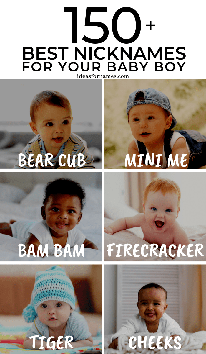 Cute And Funny Nicknames For Your Awesome Baby Boy #babyboy #babynames #nicknames #nameideas #nickname #boynames