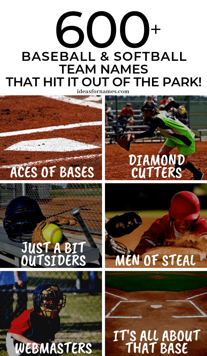 Baseball And Softball Team Names That Hit It Out Of The Park #baseball #softball #baseballboys #baseballfan #baseballlove #softballlove #softballfan #baseballmom #softballmom