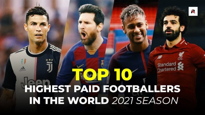 10 highest paid footballers in the world [2021]