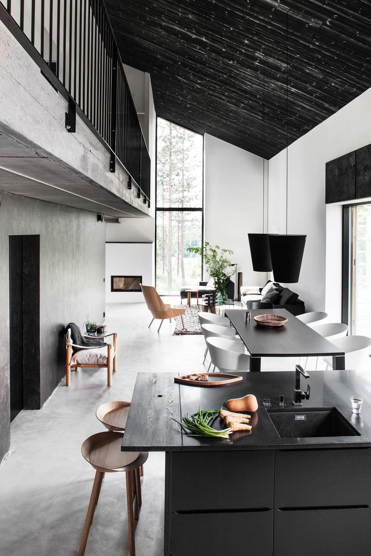 Black and White Scandinavia Kitchen  Dream House