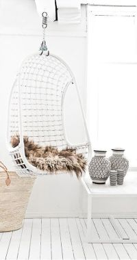 White Indoor Swing Hanging Chair - Dream House