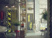 Casual Loft Style Living interior-design Maxim Zhukov ...