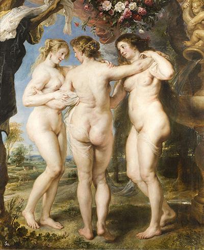 """""""Las tres Gracias"""", del pintor Pedro Pablo Rubens"""