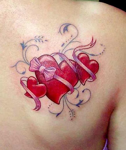 Muneca Tatuajes De Corazones Para Mujeres