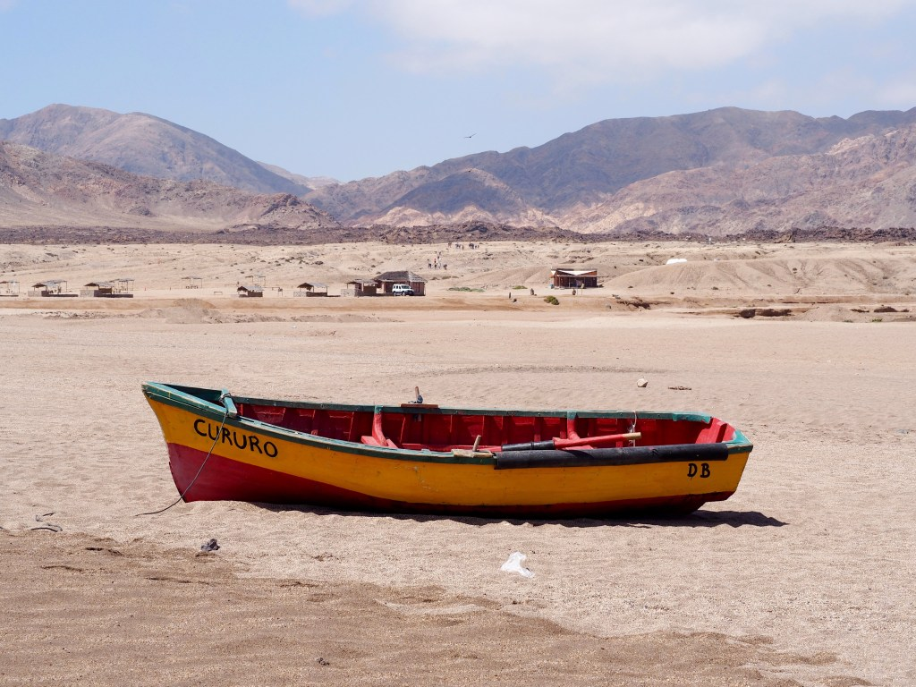 Desert boat in Pan de Azucar National Park