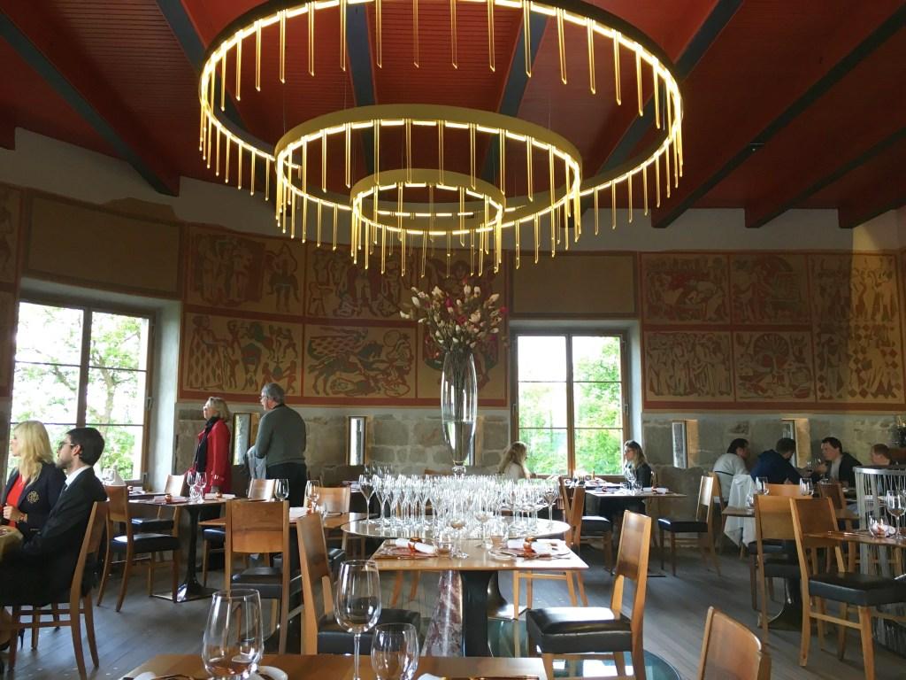 The dining room at Strelec Restaurant in the Ljubljana Castle