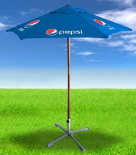 """Pepsi Blue"" 7ft Wooden Patio Umbrella - Pepsi"