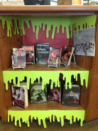 Decoración Halloween libros